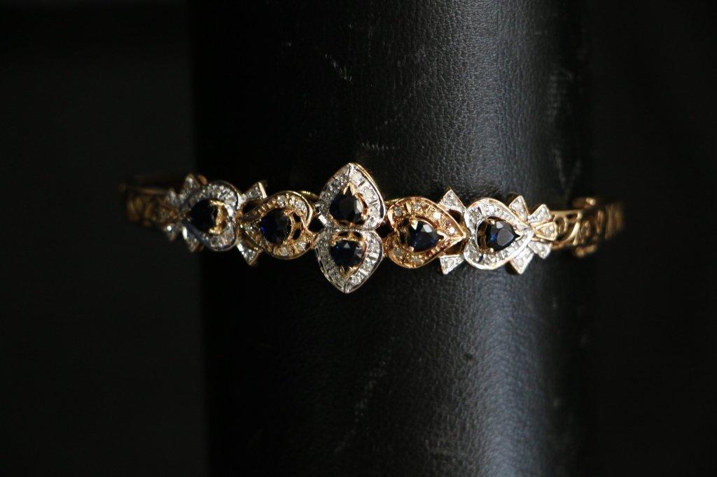 14k gold 13.2 gram 1.25 ct Natural Blue Sapphire
