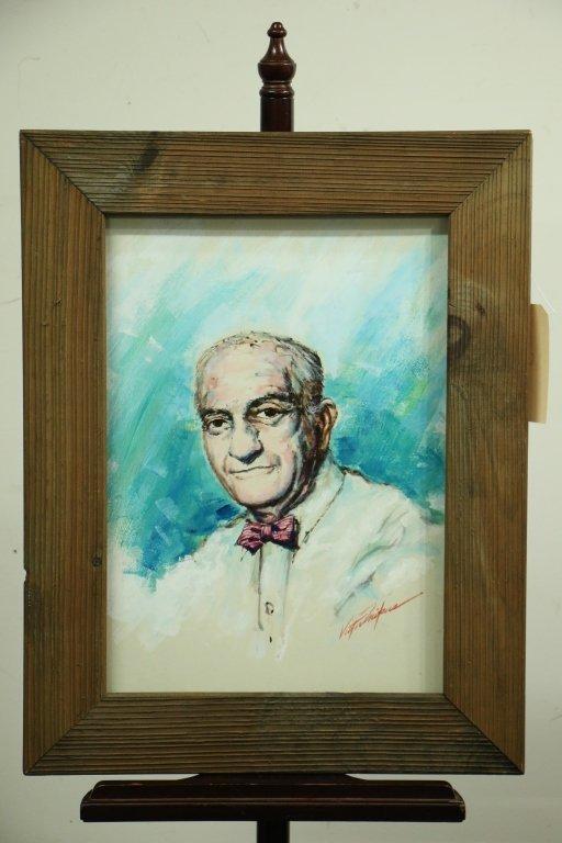 Victor Mikus Oil Painting of Nat Fleischer