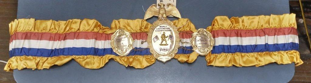 Ring Magazine Championship Belt Ismael Laguna