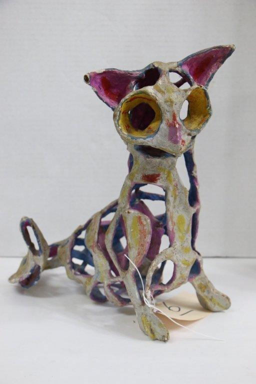 An unusual modern art cat
