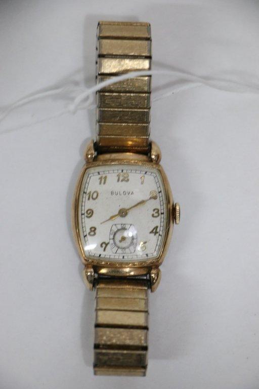 An art deco Bulova gent's wristwatch