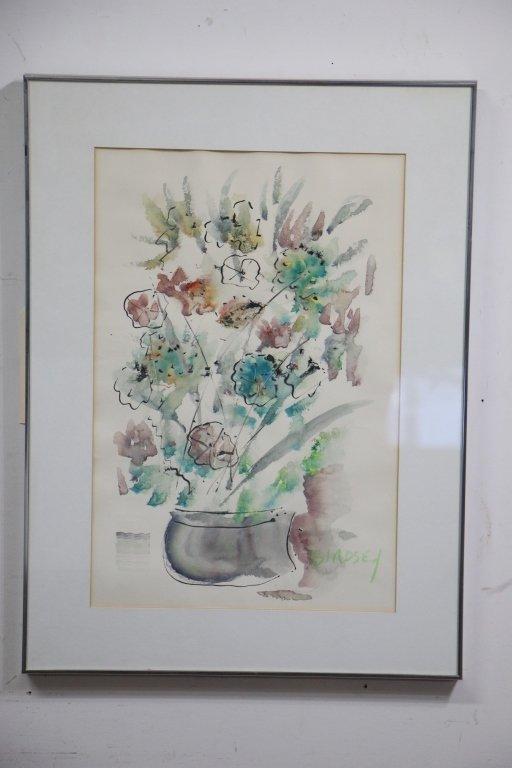 Alfred Birdsey (1912-1996) Floral Watercolor