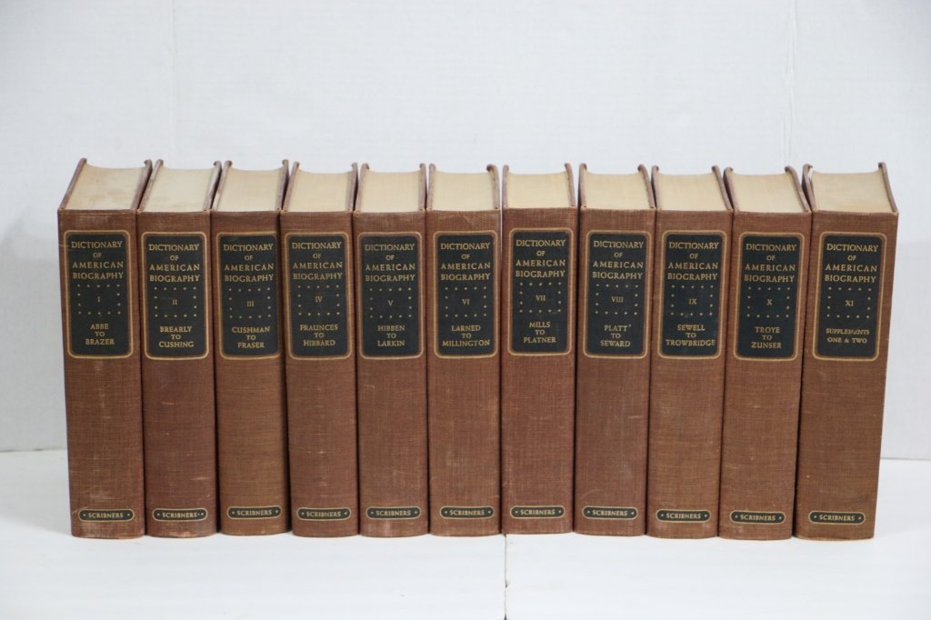 Dictionary of American Biography (11 vols 1957 Ed)