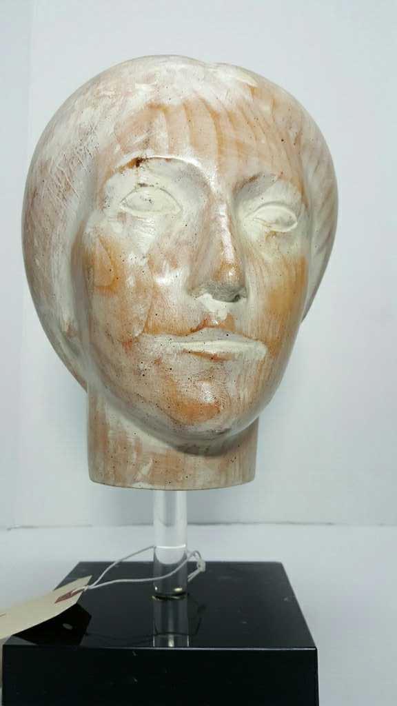 Sarreid Ltd. Carved Wooden Female Headbust