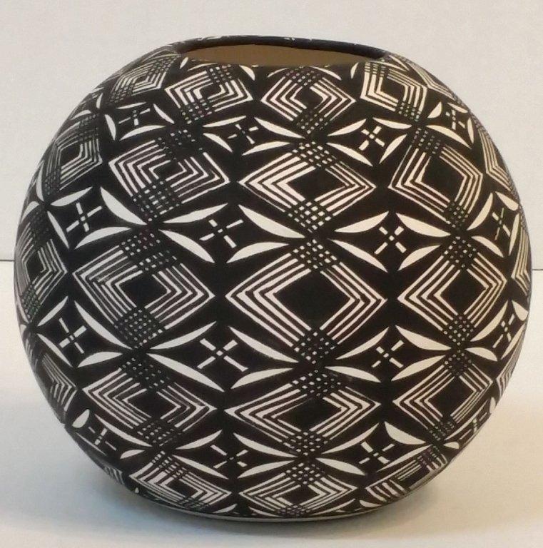 A Native American Pottery Vase, M. Aragon