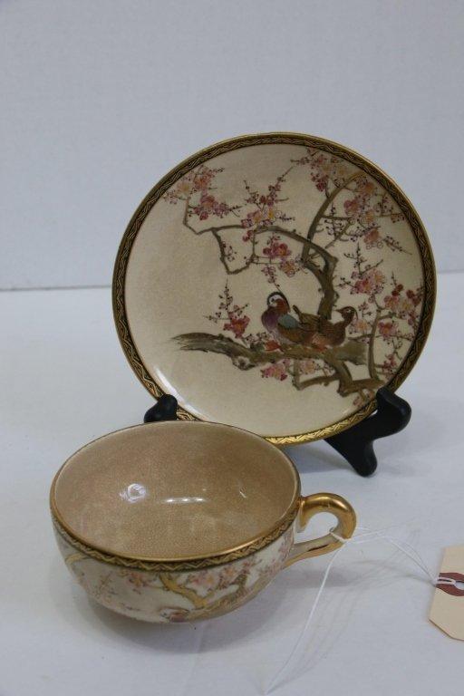 Fine quality antique Satsuma cup & saucer