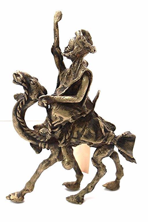 Vintage of Antique Bronze of Man on Camel.