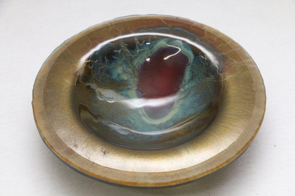 Modern Art Glass Bowl 1992