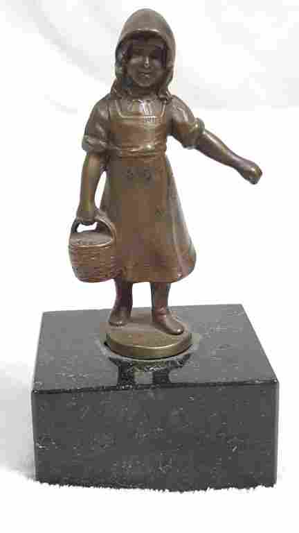 Antique Bronze Figurine Signed Keck