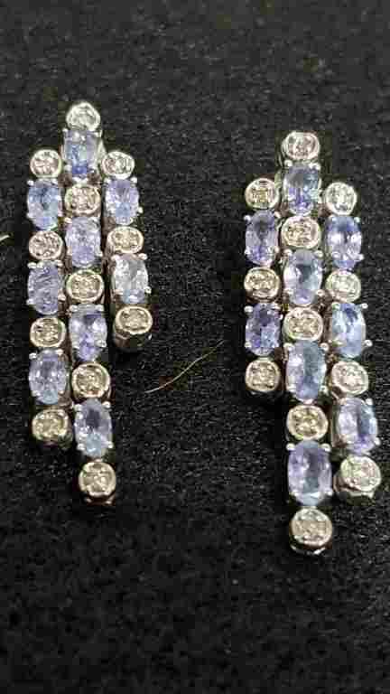 4.33 diamond & Tanzanite earrings