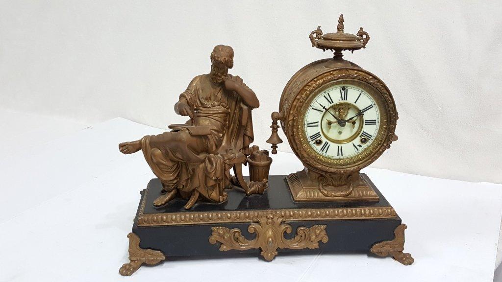 Ansonia Arion Figural Mantle Clock