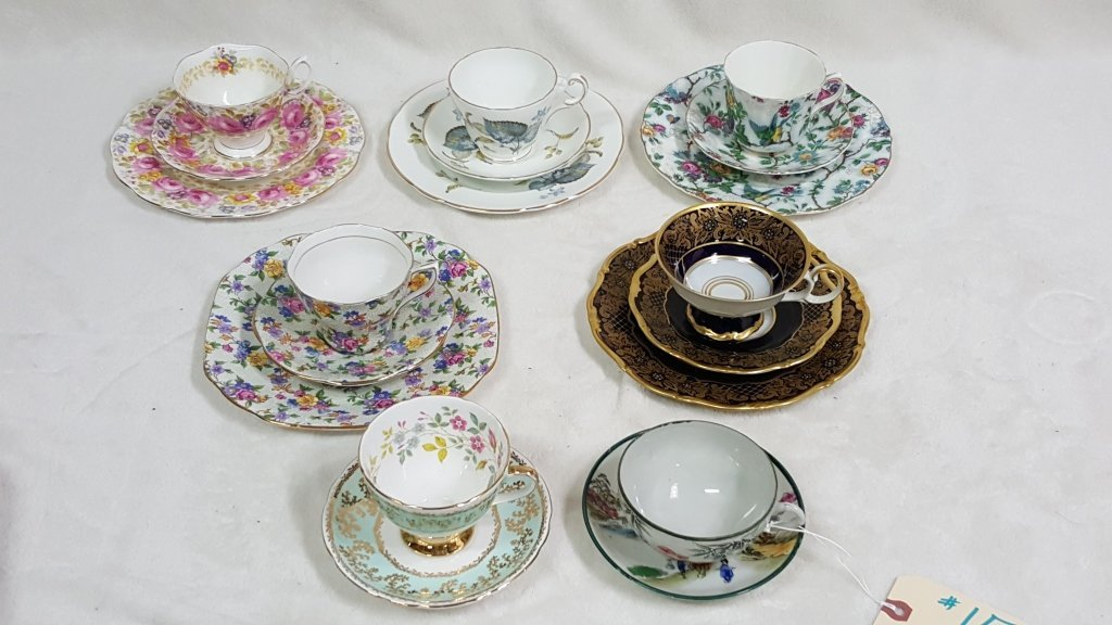 Tea Cups & Saucers, W/ Other China & Porcelain