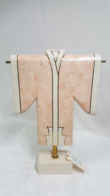 Modern Marble & Brass Asian Sculpture