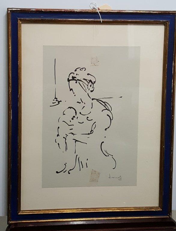 Lazzaro Donati (1926-1977) ink drawing
