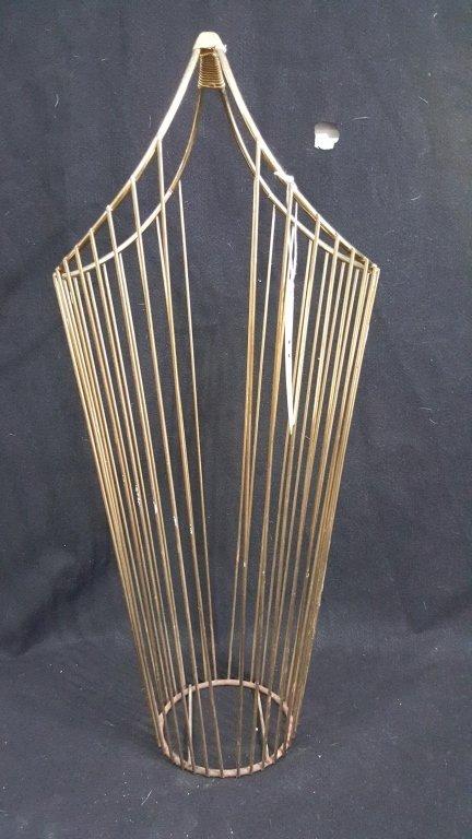 Mid Century Brass Wire Umbrella Stand Cane Holder
