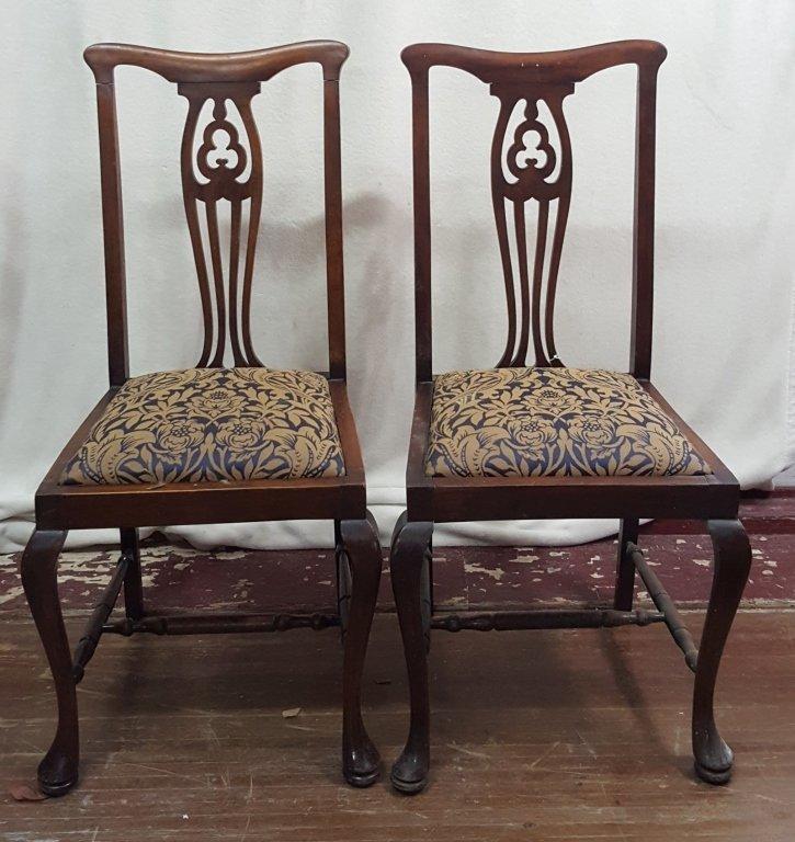 6 Antique English kitchen chairs