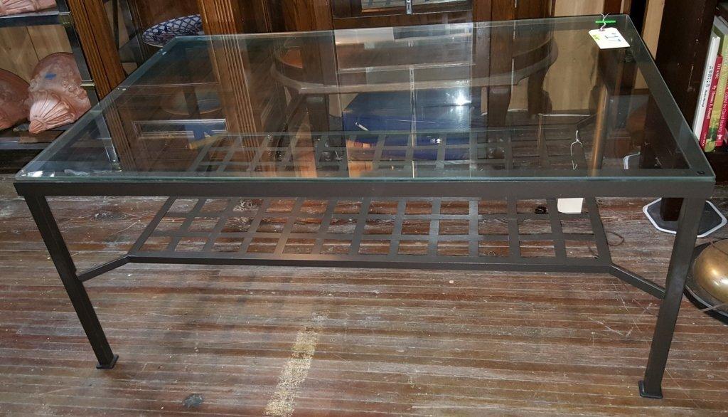 Modern Iron coffee table. Pier 1?