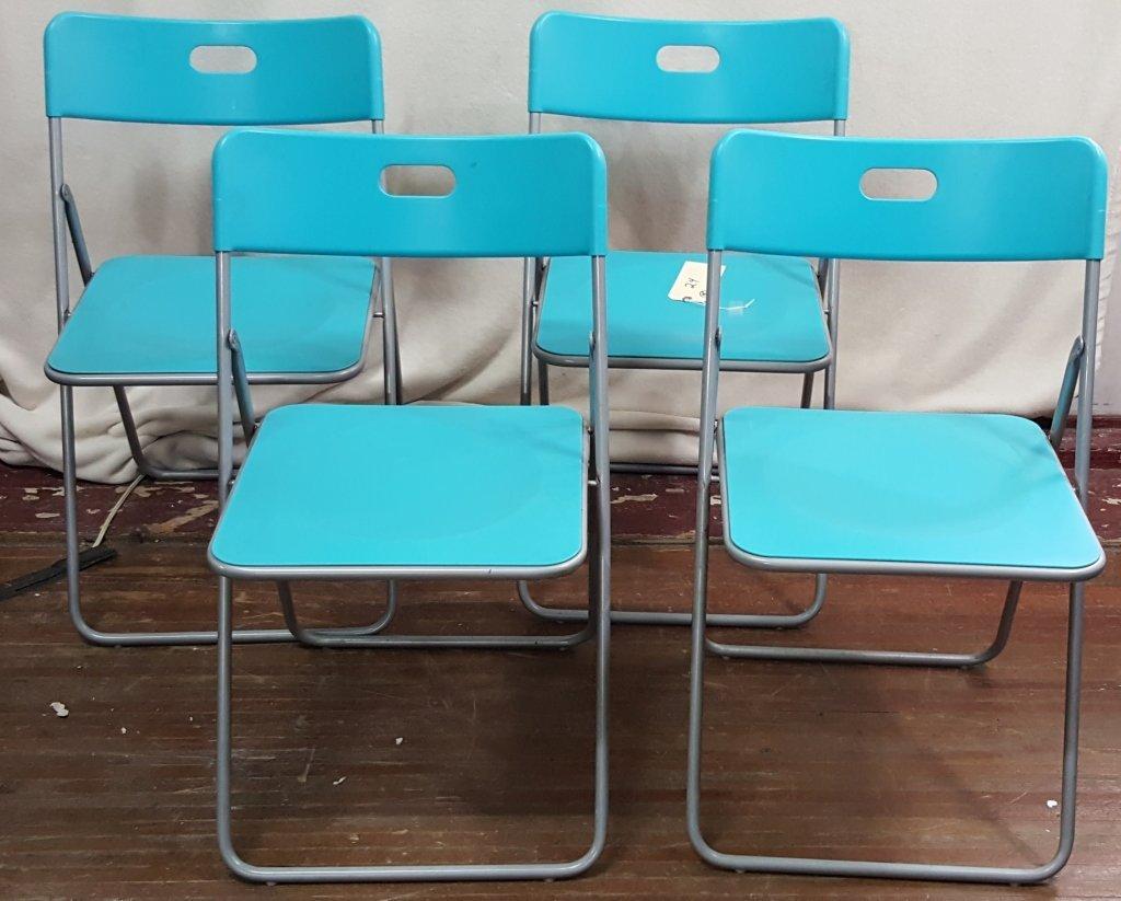 4 Mid century folding kitchen chairs
