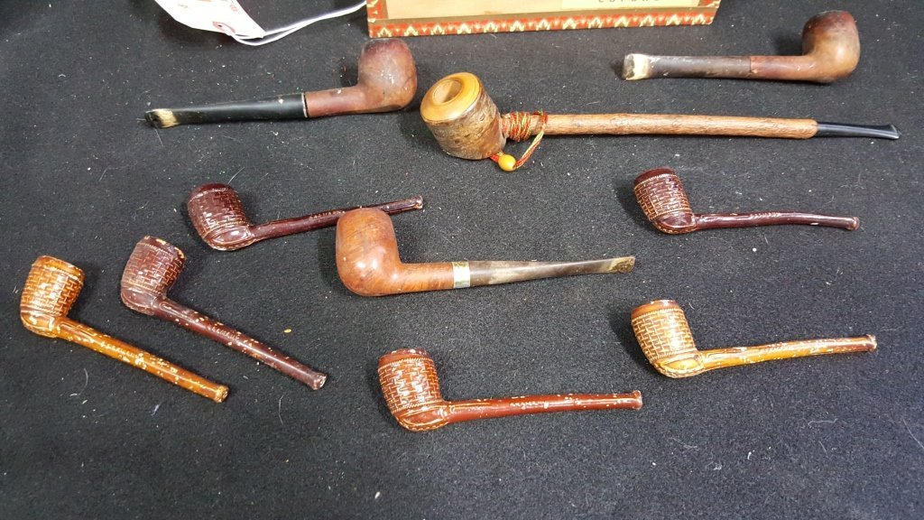 Collection of Ceramic and Wooden Pipes