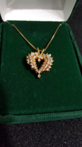 Gold Plated Sterling Silver Heart