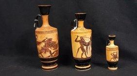 Greek Attic Black Figure Lekythos Set