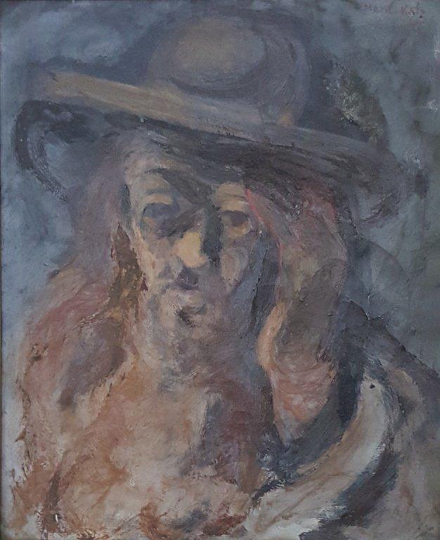 Mane Katz Oil On Canvas of a Rabbi