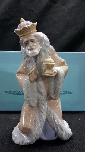 Lladro Large Nativity King Melchior Wiseman #5479