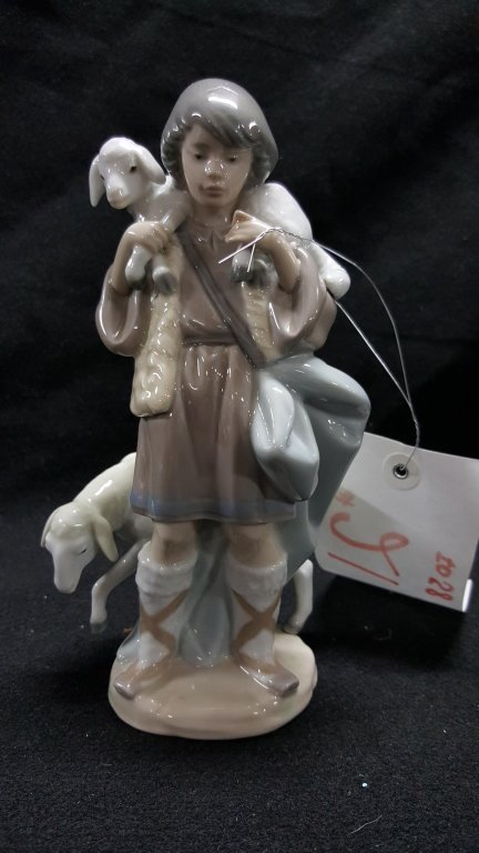 """Lladro Figure """"Shepard Boy"""" #5485"""