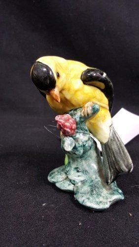 Stangl #3813 Evening Grosbeak Or Crested Goldfinch