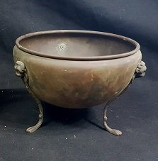 Antique English Lion Footed Bronze Bowl