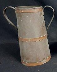 English Bronze & Copper Handled Spittoon / Jug