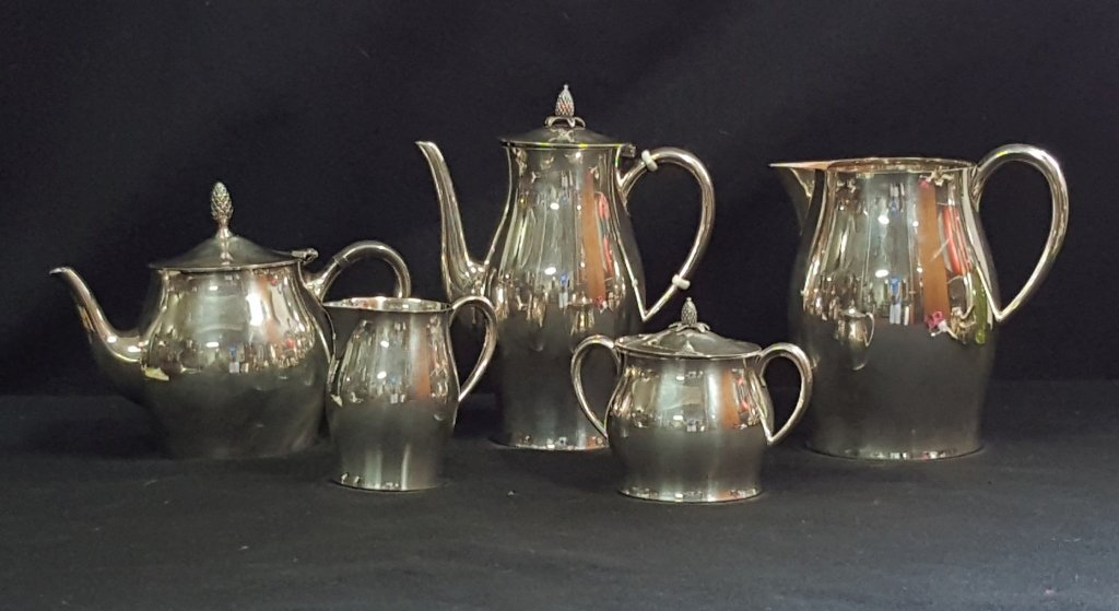 "Tuttle Sterling Silver Tea Set ""P. Revere Pattern"""