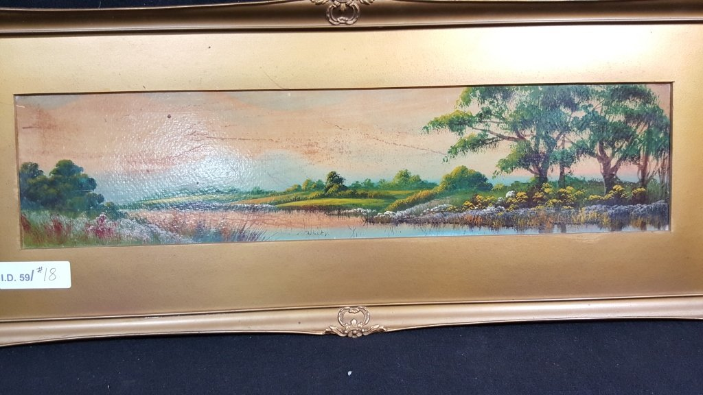 Antique Oil on Board Signed Dooley