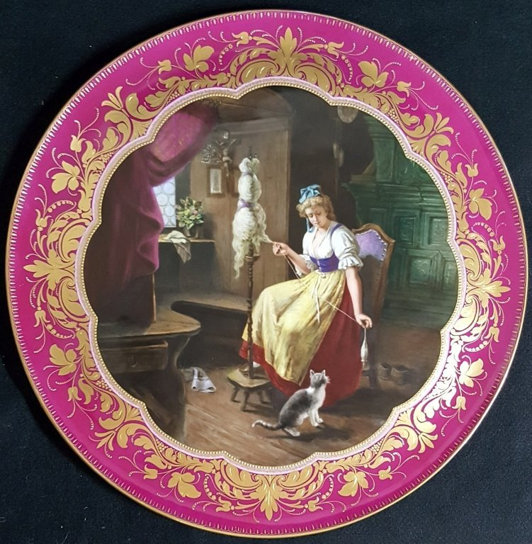 "Large Royal Vienna Charger 19"" Diameter."