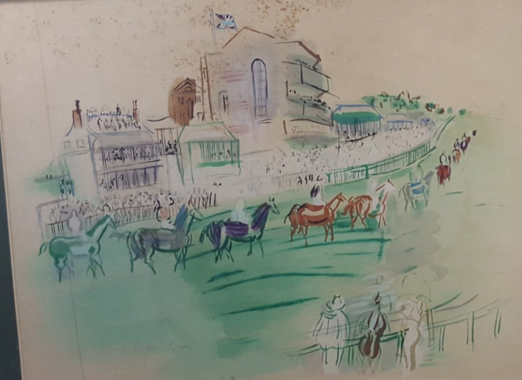 Epson Hand-Colored Lithograph by Raoul Dufy 1950