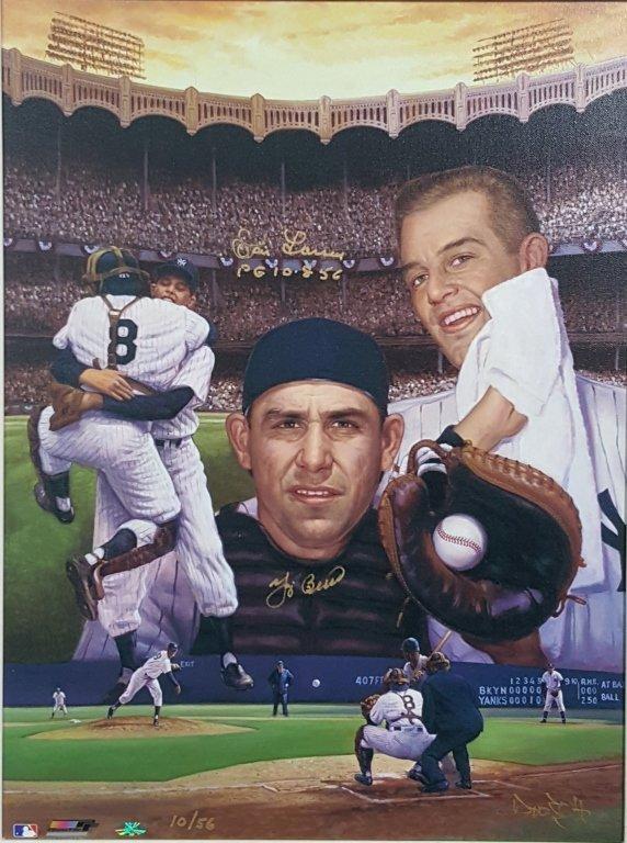 """Don Larsen & Yogi Berra Signed, """" Perfect Game """""""