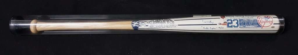 NY Yankees Don Mattingly Autograph Copperstown Bat