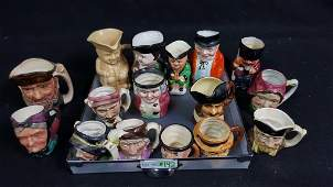 16- Collection of Whimsical English Toby Mugs