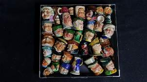 37- Collection of Whimsical English Toby Mugs & ..