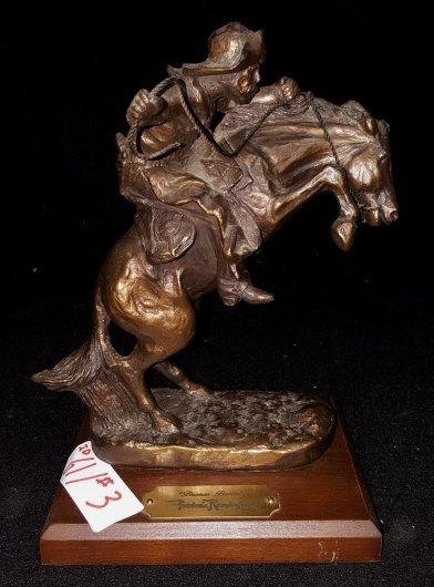 Bronco Buster Sculpture; after Frederic Remington