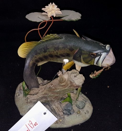 Danbury Mint Backwater Bass Figurine