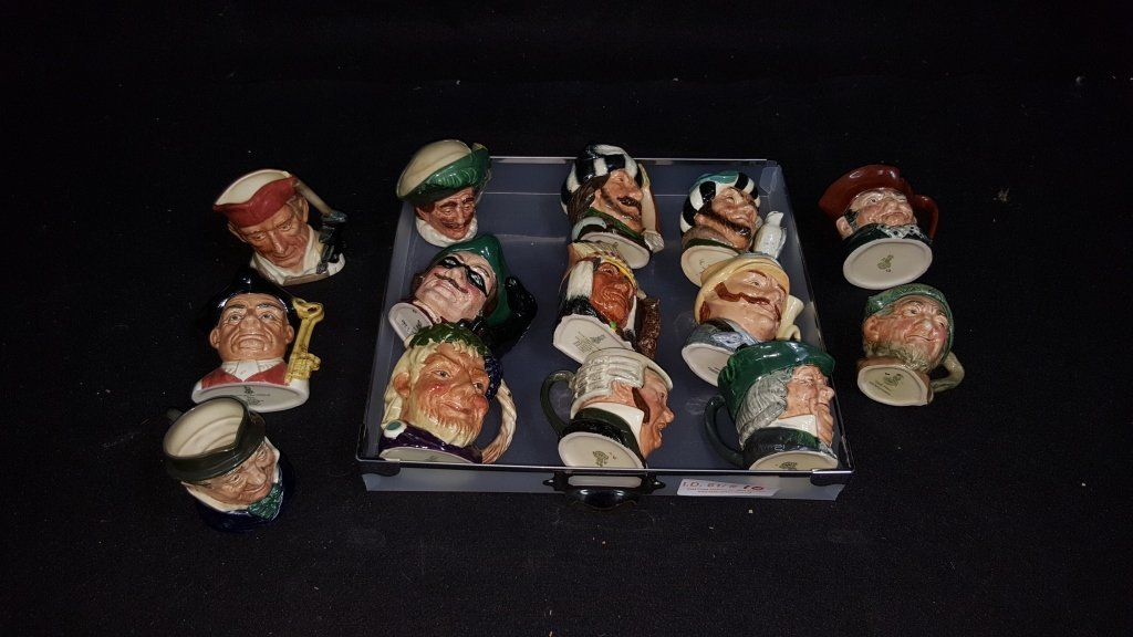14 Piece Royal Doulton-Small Toby Mug Collection