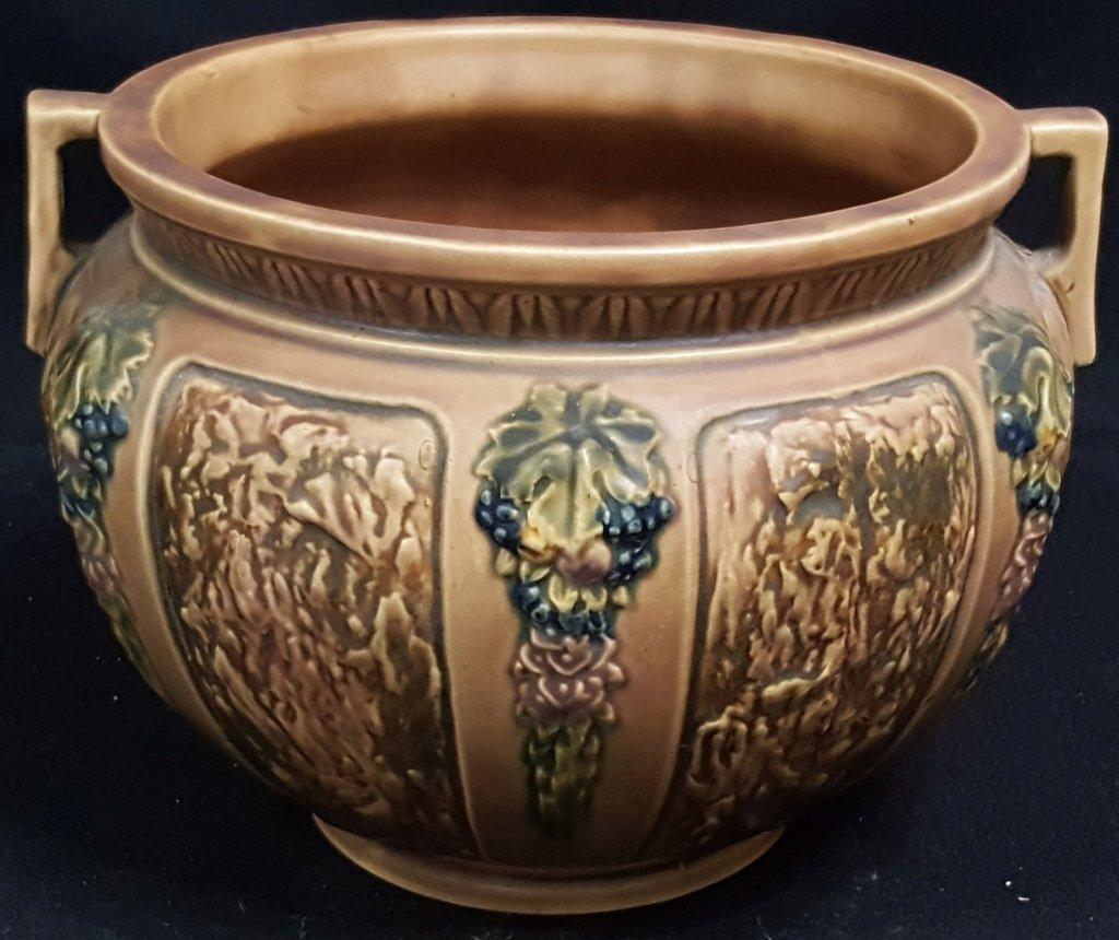 Handled Roseville Pottery Urn