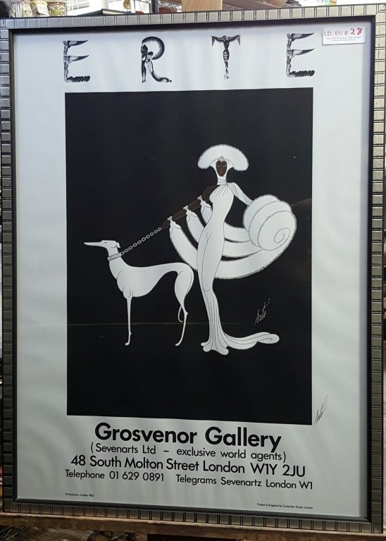 "Erte ""Grosvenor Gallery"" Signed Poster"