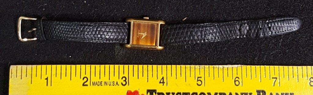A Vintage Cartier Gold Electroplate Wrist Watch