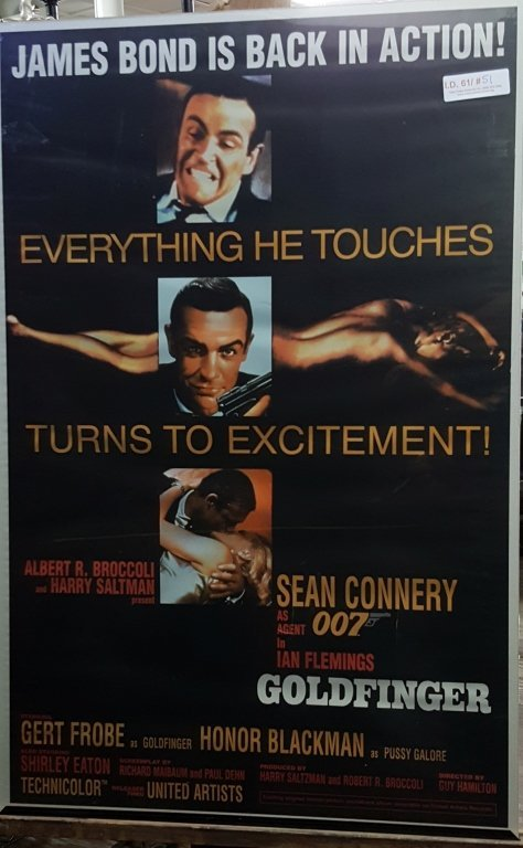 """James Bond """"Goldfinger"""" Movie Poster"""