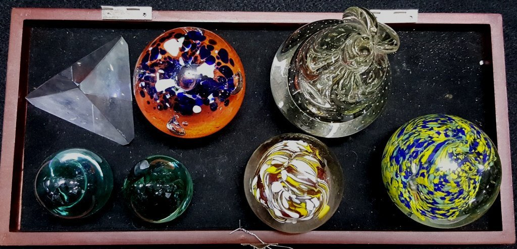 Art Glass Paperweight Collection with Stuben