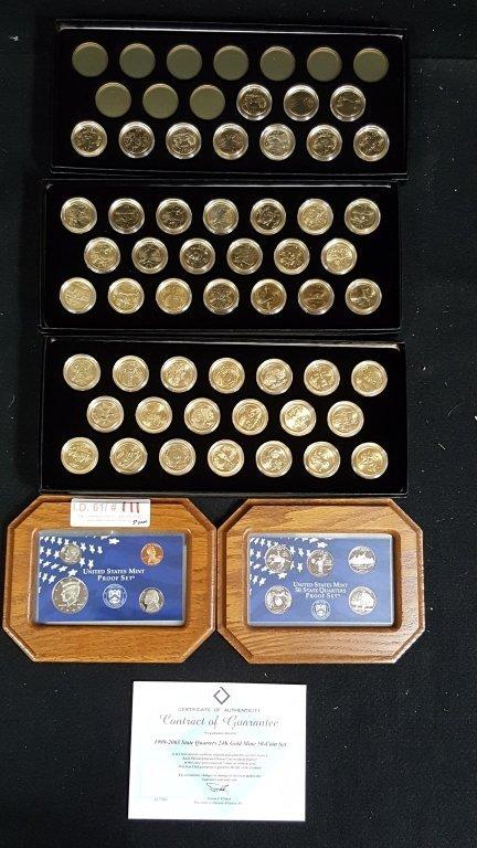 United States Mint Proof Set & 1999-2003 Quarters