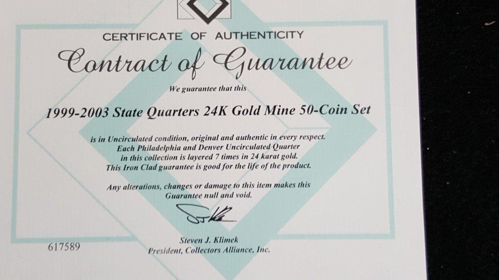 United States Mint Proof Set & 1999-2003 Quarters - 2