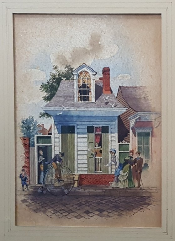 Boyd Cruise Watercolor New Orleans St. Phillip St. - 2